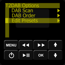 IMAGE: Essentia Keypad DAB Options List