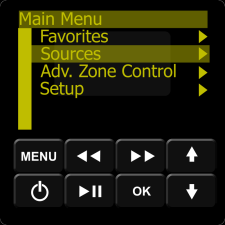 IMAGE: Essentia Keypad Menu Option Sources