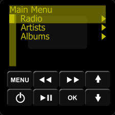 IMAGE: Music Port Menu - Internet Radio
