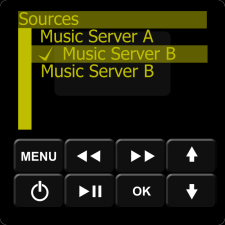 IMAGE: Keypad Sources Menu